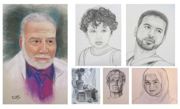 Portraits by Rabab Jad
