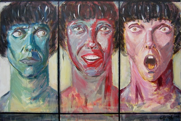 Facial expressions/painting/acrylics by Christopher Armstrong