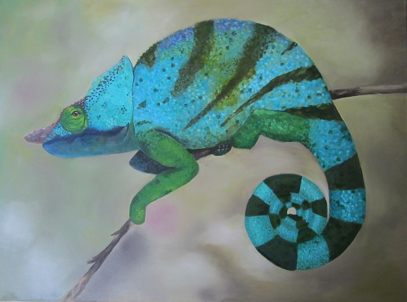 Chameleon/ oil painting by Christopher Armstrong
