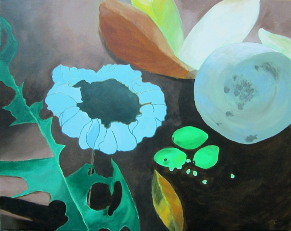 Summer/acrylic painting by Joanne Curia