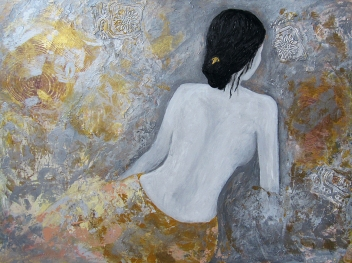Mixed media on canvas by Hanieh