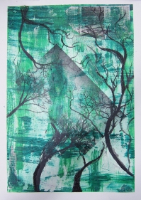 Mixed media on paper by Anna