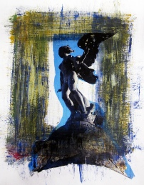 Mixed media on paper by Judith