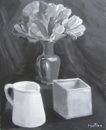 Acrylics, still life by Martine Lagasse