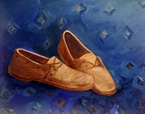 Acrylics on paper by Martine Lagasse