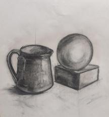 Charcoal sketch by Fulya