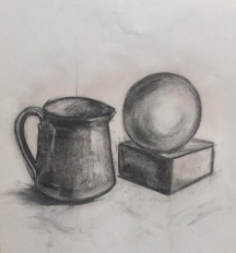 Charcoal sketch by Fulya